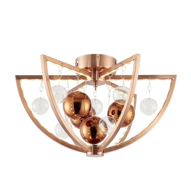 Endon-MUNI-CO-F - Muni - LED Copper & Clear Balls Ceiling Lamp