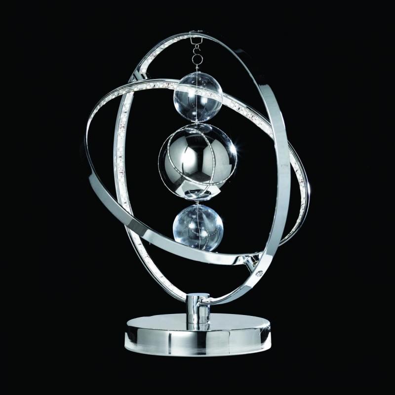 Endon-MUNI-TLCH - Muni - LED Clear & Chrome Balls Table Lamp