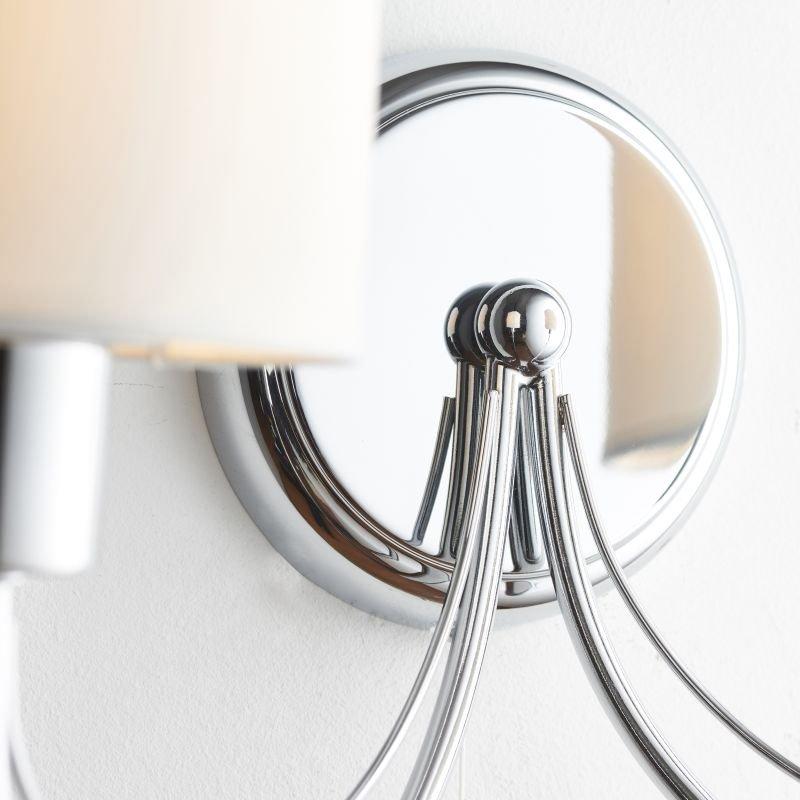 Endon-PHANTOM-2WBCH - Phantom - White Shade with Polished Chrome Twin Wall Lamp