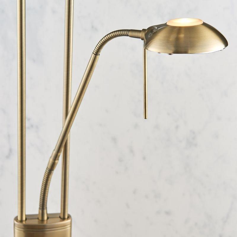 Endon-ROME-AN - Rome - Antique Brass Mother&Child Uplighter Floor Lamp