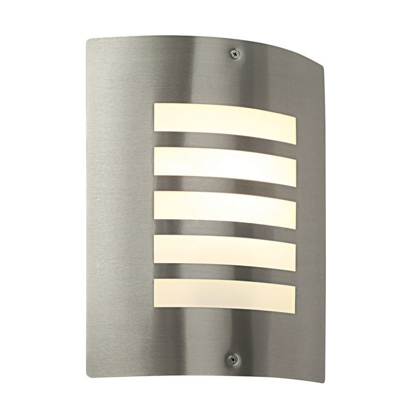 Saxby-ST031F - Bianco - Opal & Stainless Steel Wall Lamp