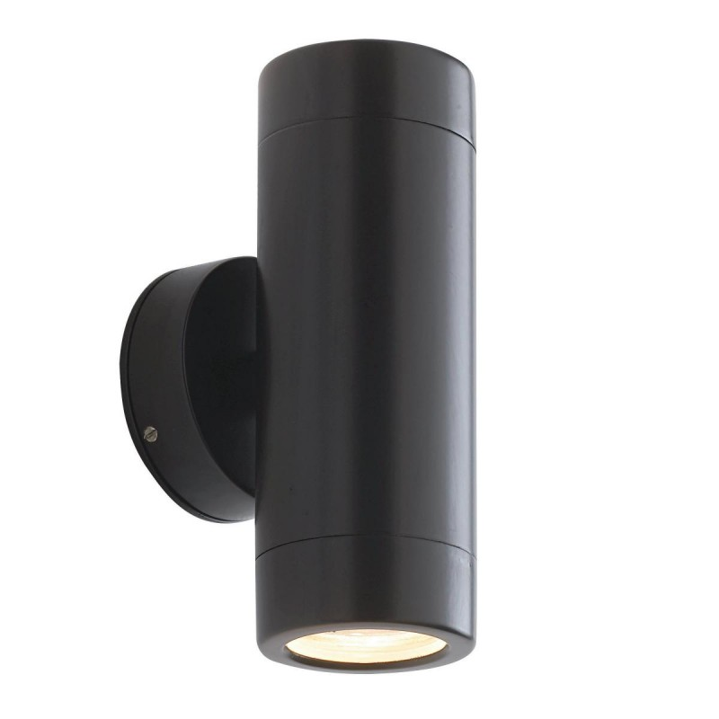 Saxby-ST5008BK - Odyssey - Outdoor Satin Black Up&Down Wall Lamp