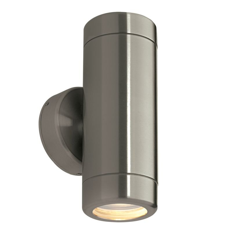Saxby-ST5008S - Odyssey - Brushed Stainless Steel Up&Down Wall Lamp