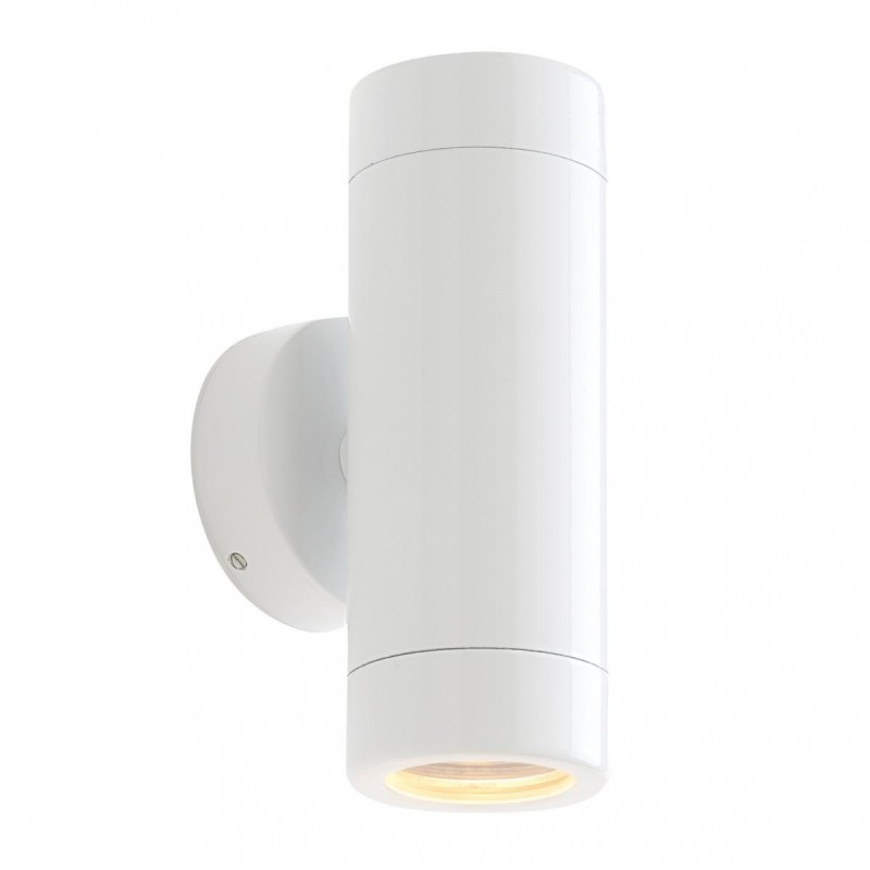 Saxby-ST5008W - Odyssey - Outdoor White Gloss Up&Down Wall Lamp