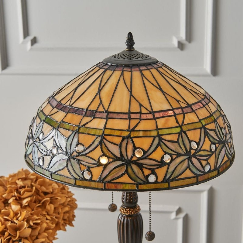 Interiors1900-63916 - Ashstead - Tiffany Glass & Dark Bronze Medium Table Lamp