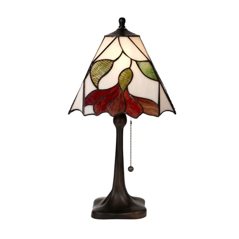 Interiors1900-63962 - Botanica - Tiffany Glass & Dark Bronze Medium Table Lamp