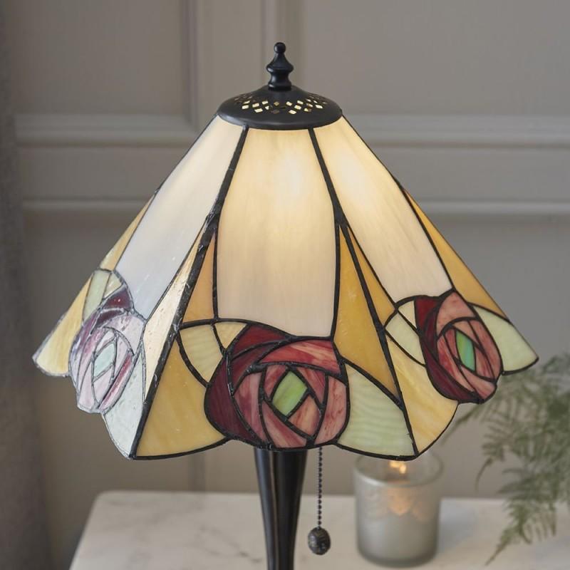 Interiors1900-64184 - Ingram - Tiffany Glass & Dark Bronze Table Lamp