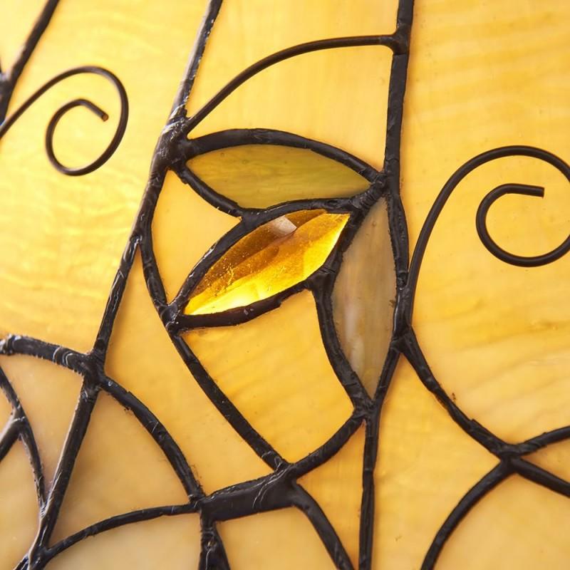Interiors1900-64197 - Jamelia - Tiffany Glass & Dark Bronze Medium Table Lamp