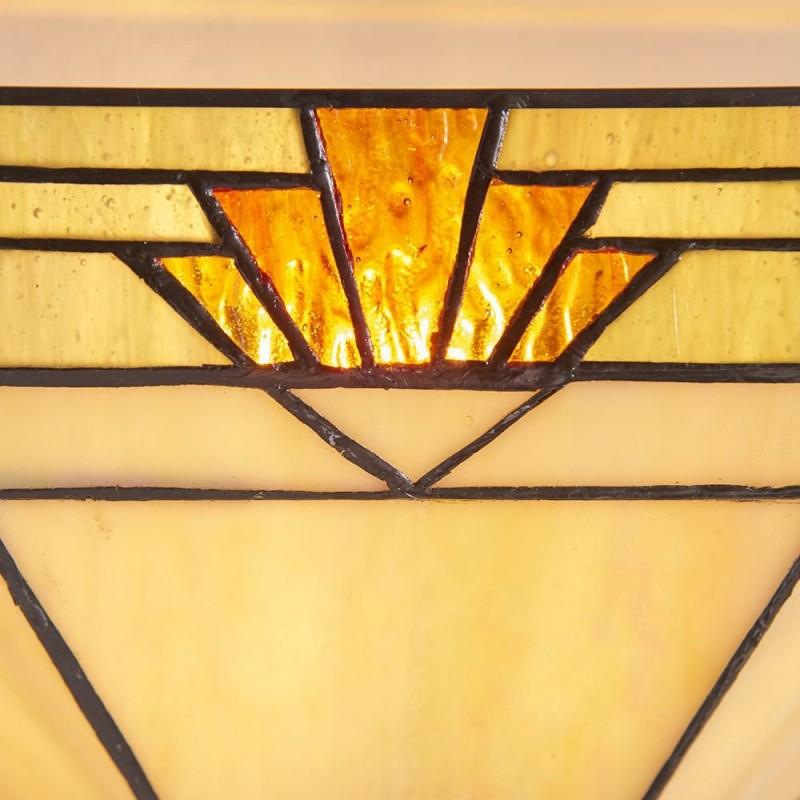 Interiors1900-64288 - Nevada - Tiffany Glass & Black Wall Lamp