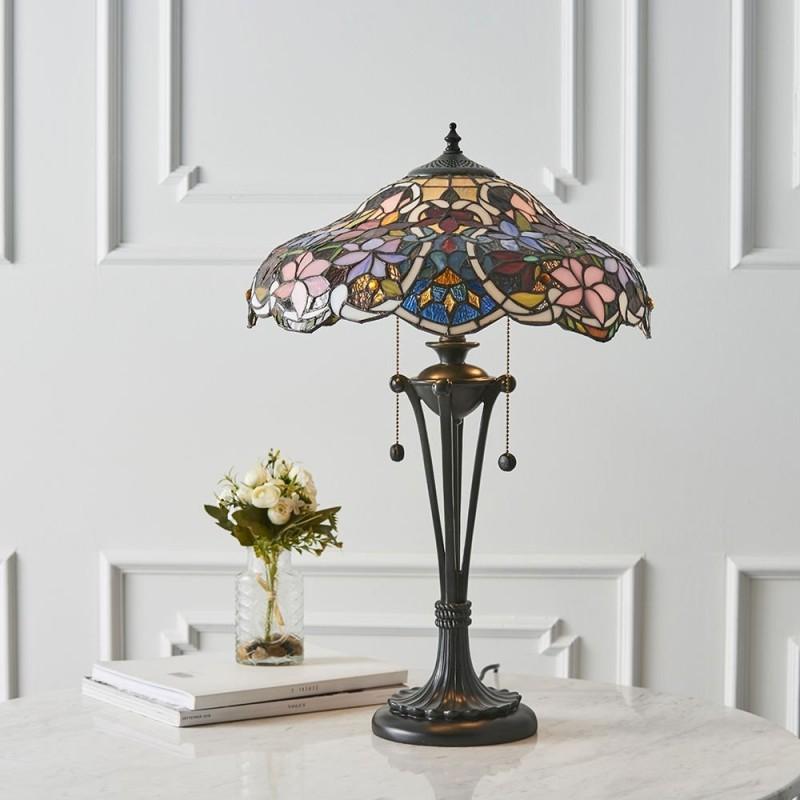 Interiors1900-64326 - Sullivan - Tiffany Glass & Dark Bronze Medium Table Lamp