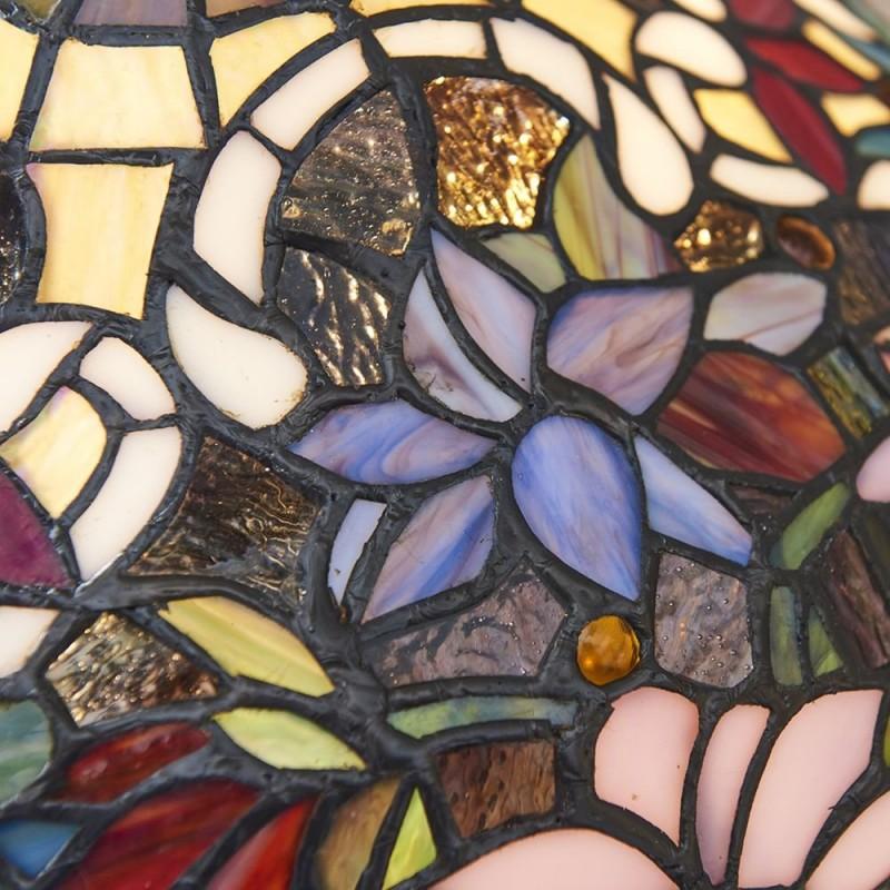 Interiors1900-64327 - Sullivan - Tiffany Glass & Dark Bronze Small Table Lamp