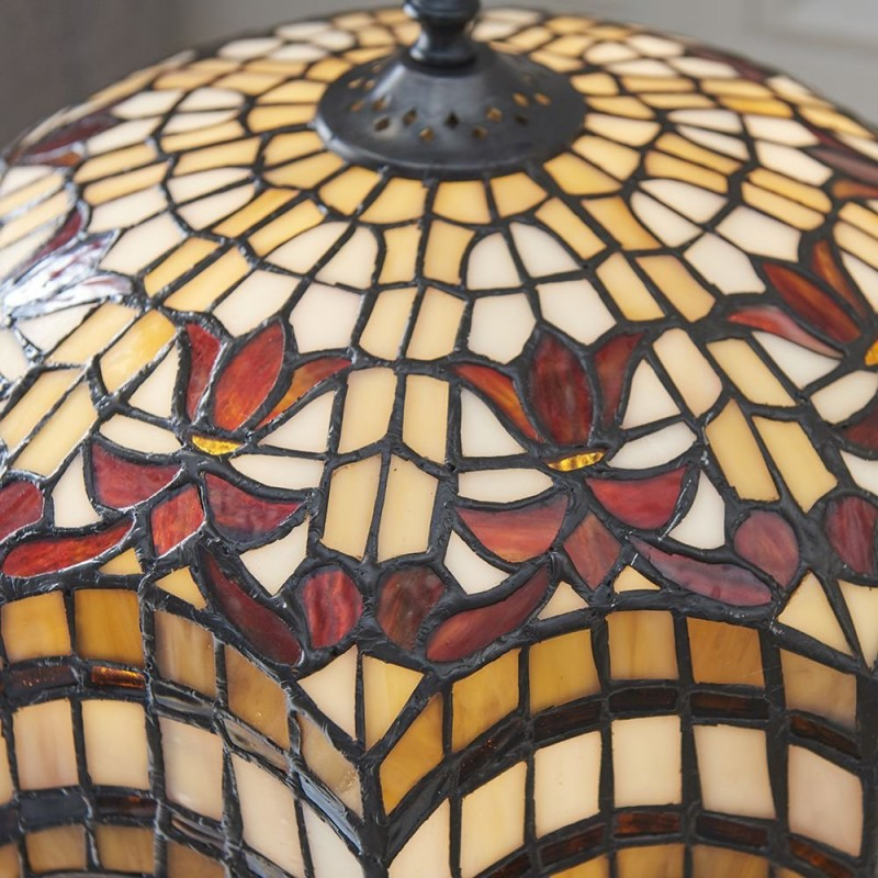 Interiors1900-64376 - Vesta - Tiffany Glass & Dark Bronze Table Lamp