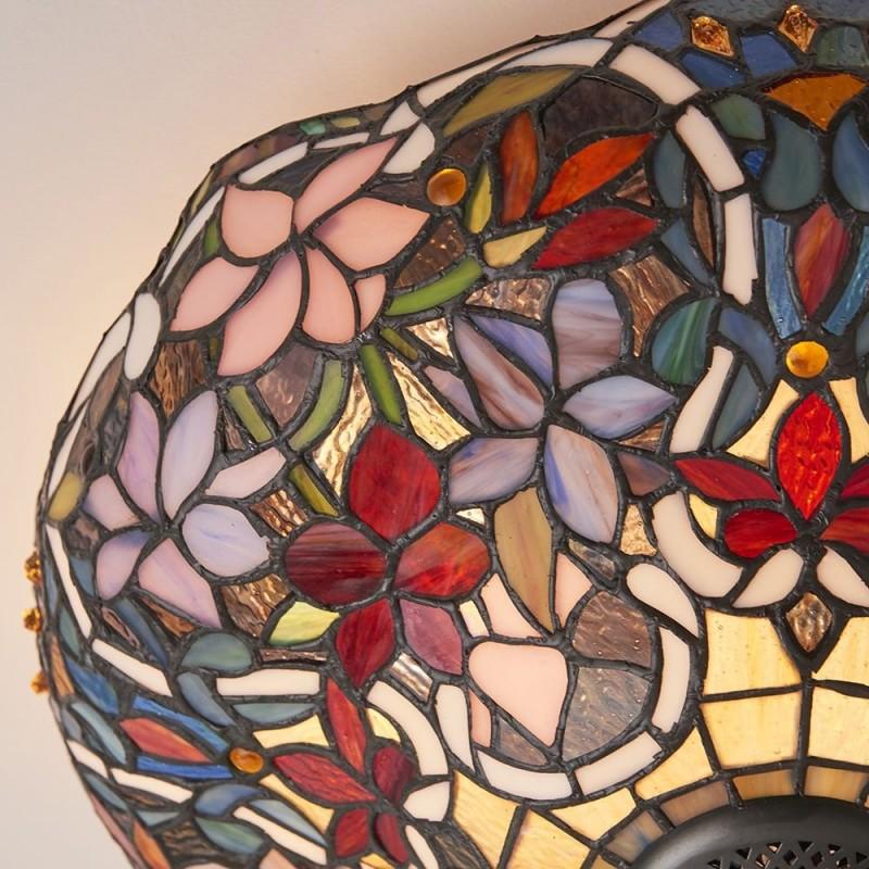 Interiors1900-70709 - Sullivan - Tiffany Glass & Dark Bronze 2 Light Flush