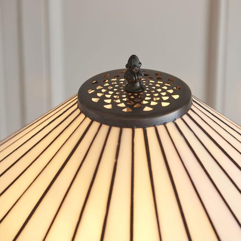 Interiors1900-70936 - Fargo - Tiffany Glass & Dark Bronze 2 Light Floor Lamp