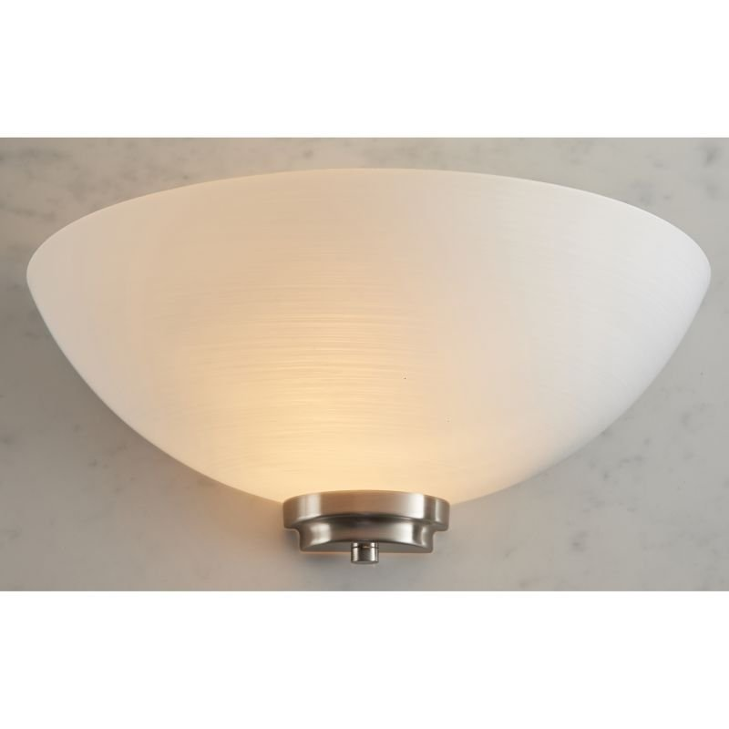 Endon-WELLES-1WBSC - Welles - White Glass with Satin Chrome Wall Lamp