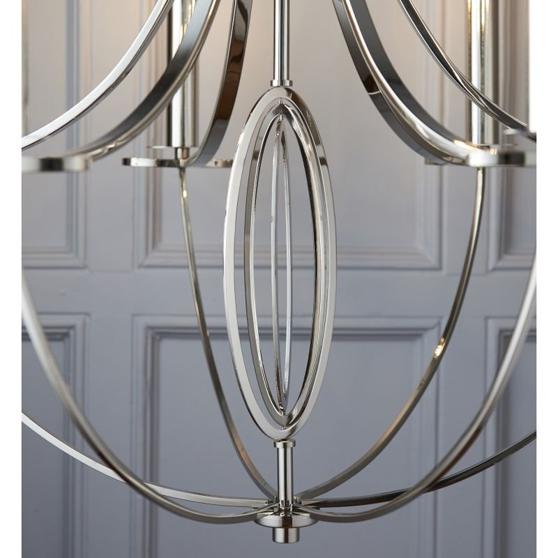 Endon-WHISTLE-6NI - Whistle - Polished Nickel 6 Light Centre Fitting