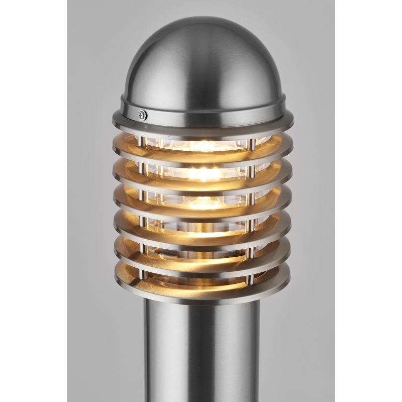 Endon-YG-6002-SS - Louvre - Polished Stainless Steel Small Bollard