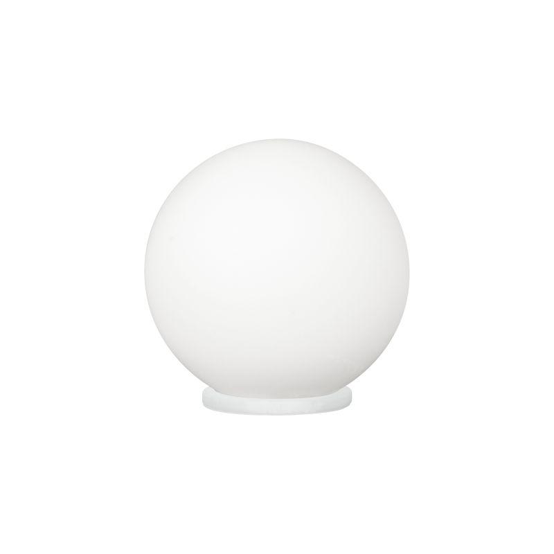 Eglo-85264 - Rondo - White Globe with Satin Nickel Table Lamp - Ø20