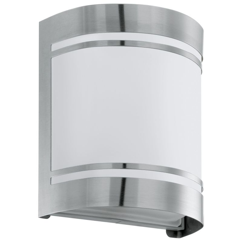 Eglo-30191 - Cerno - Outdoor Frosted & Stainless Steel Wall Lamp
