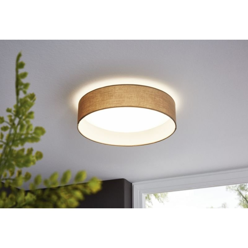 Eglo-31589 - Pasteri - Taupe & White with Diffuser Ceiling Lamp