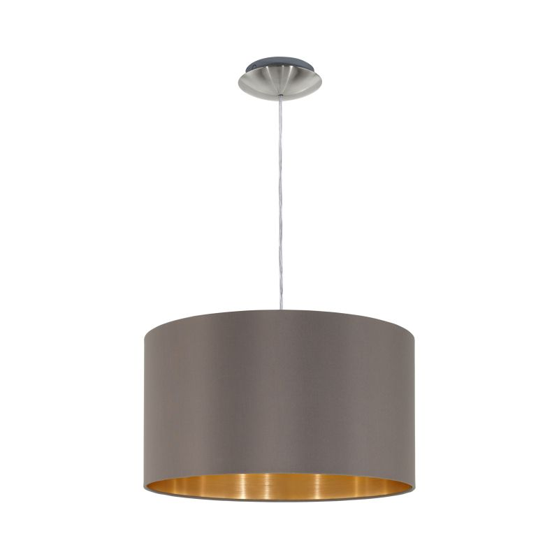 Eglo-31603 - Maserlo - Cappucino & Gold with Nickel Single Pendant