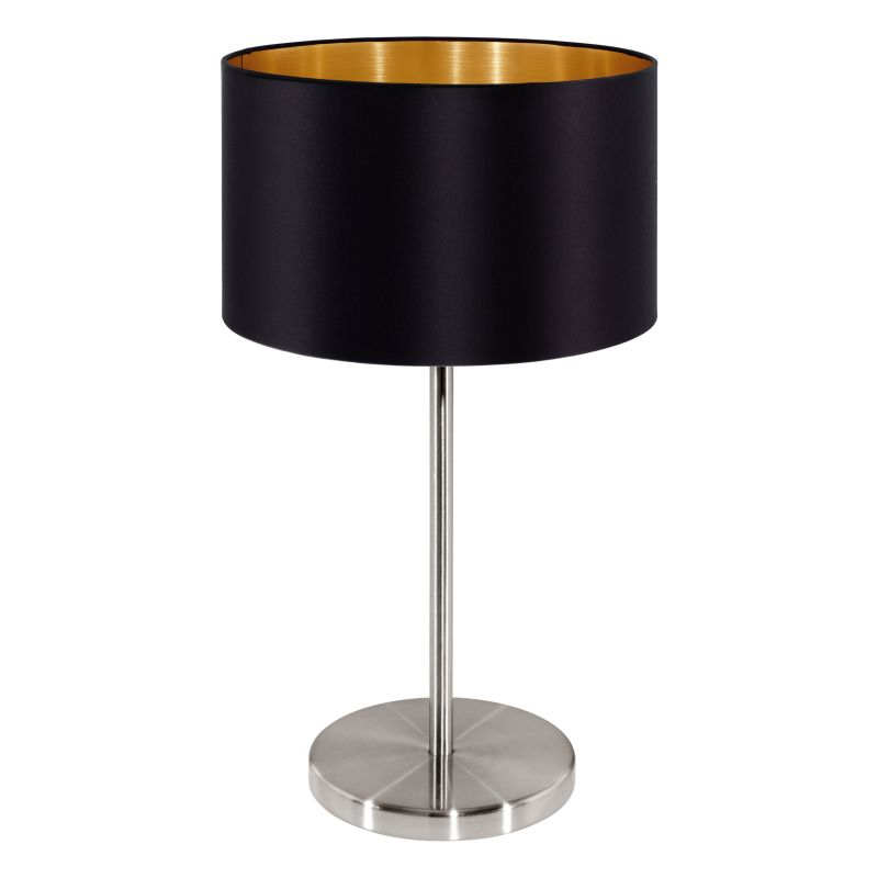 Eglo-31627 - Maserlo - Black & Gold with Nickel Table Lamp