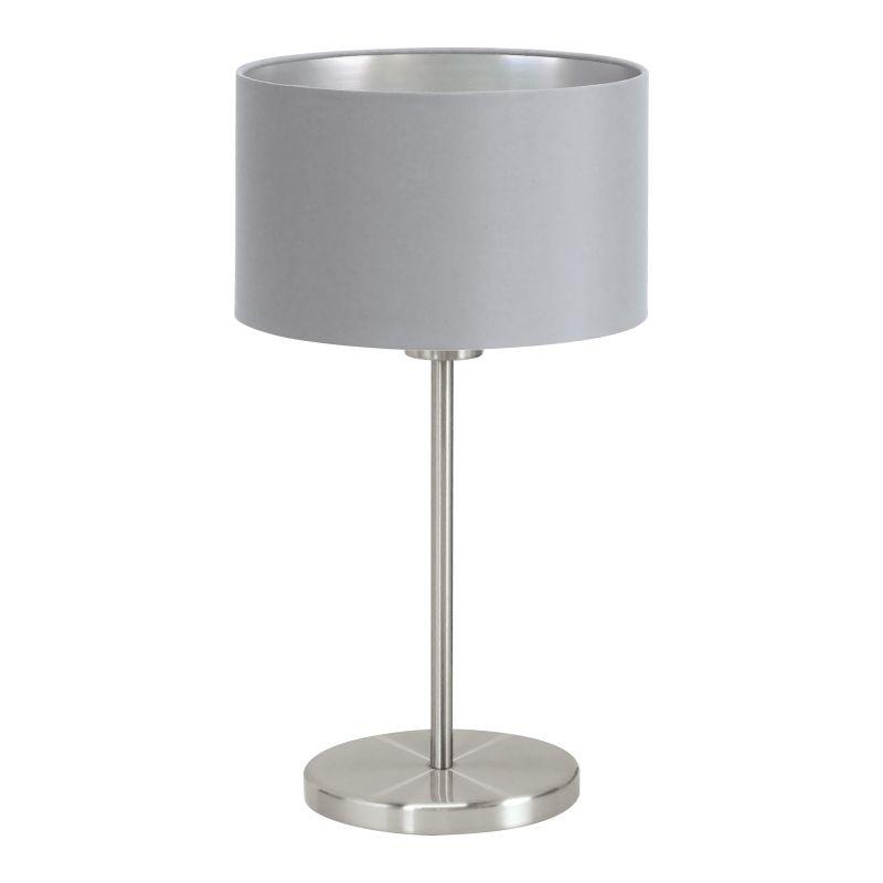 Eglo-31628 - Maserlo - Grey & Silver with Nickel Table Lamp