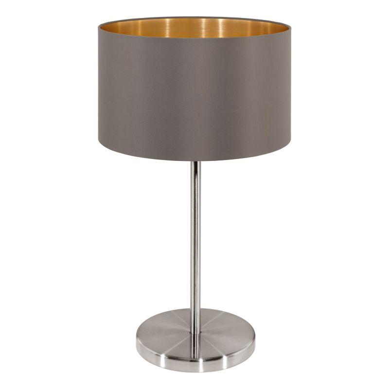 Eglo-31631 - Maserlo - Cappucino & Gold with Nickel Table Lamp