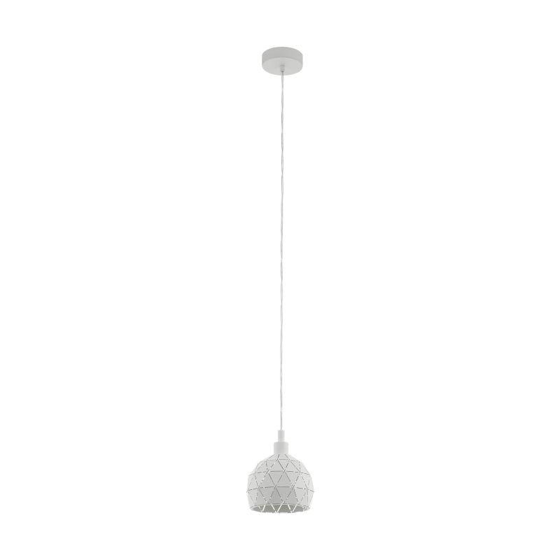 Eglo-33344 - Roccaforte - White Small Single Pendant