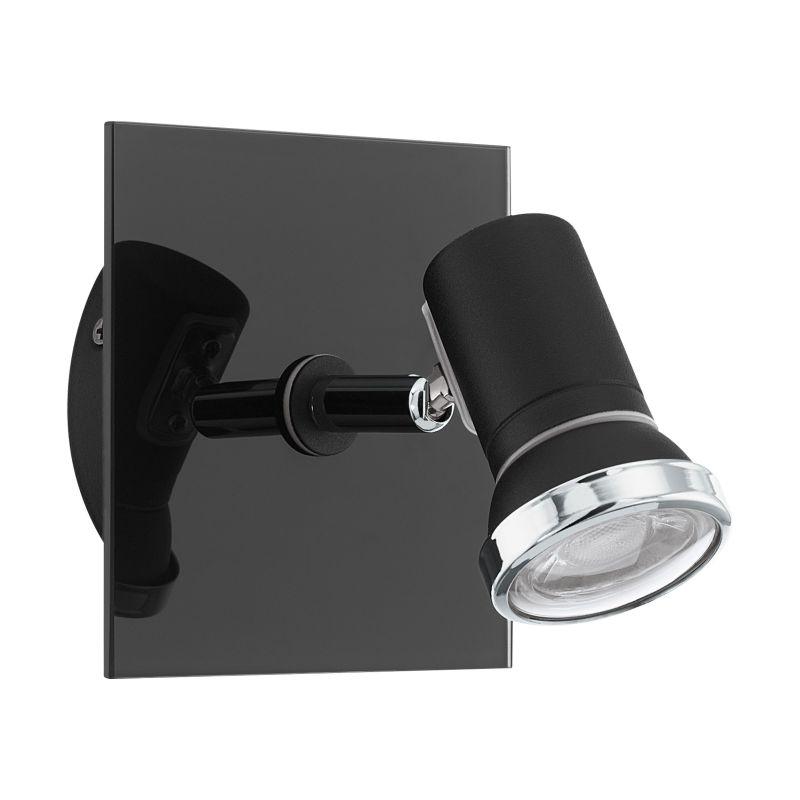 Eglo-33677 - Tamara 1 - Black & Chrome Wall Spotlight