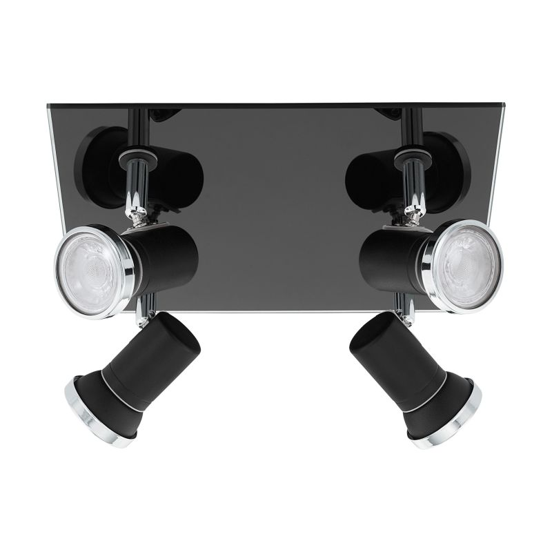 Eglo-33678 - Tamara 1 - Black & Chrome 4 Light Spotlights