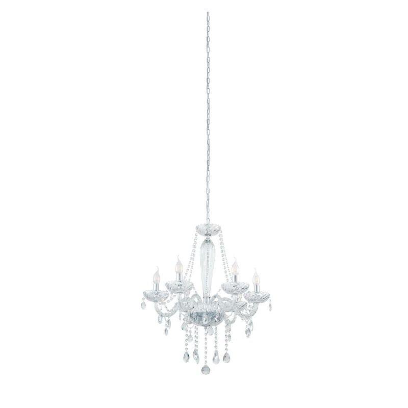 Eglo-39099 - Basilano 1 - Crystal with Chrome 6 Light Chandelier