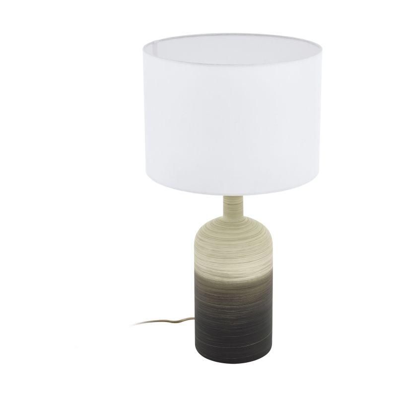 Eglo-39753 - Azbarren - White Shade & Ceramic Table Lamp