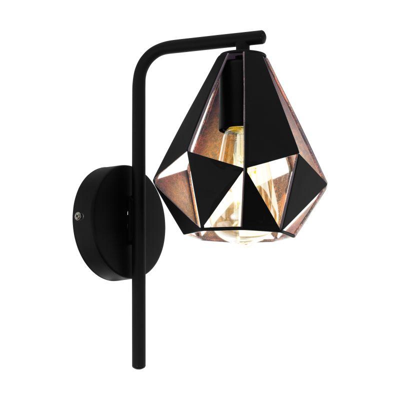 Eglo-43057 - Carlton 5 - Vintage Black & Copper Wall Lamp
