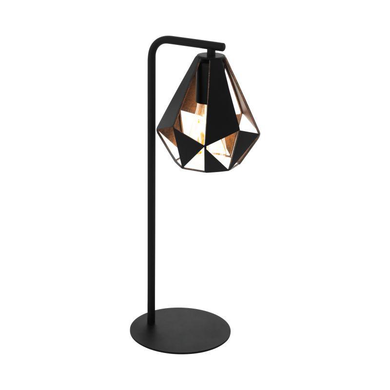 Eglo-43058 - Carlton 5 - Vintage Black & Copper Table Lamp