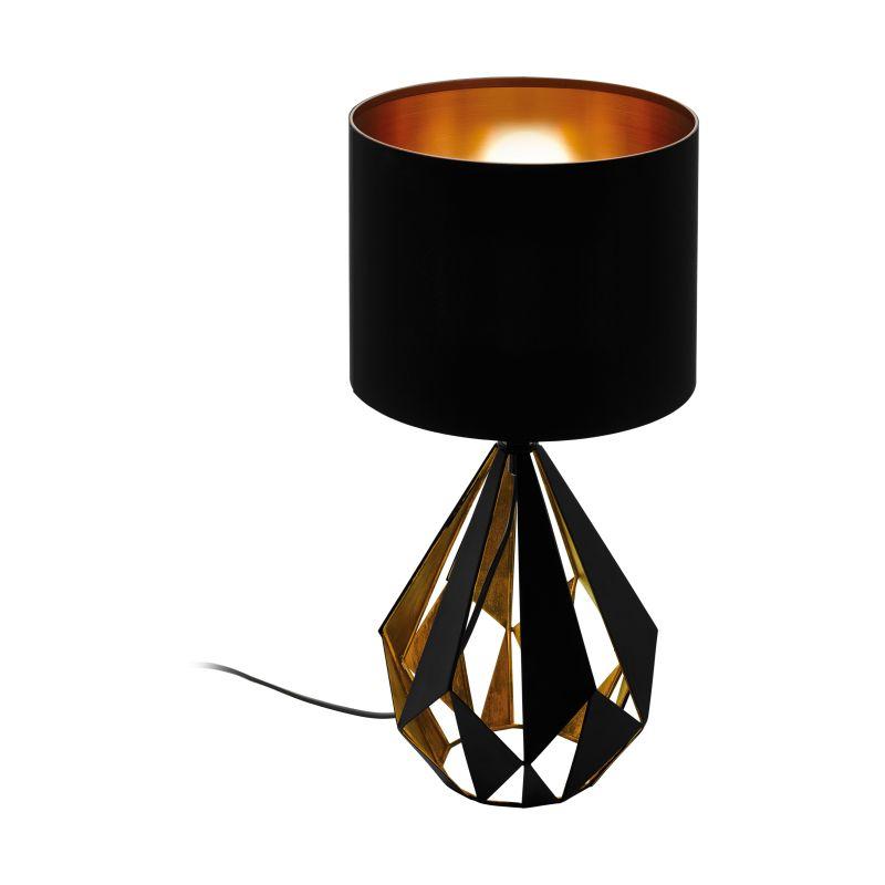 Eglo-43077 - Carlton 5 - Vintage Black & Copper Fabric Table Lamp