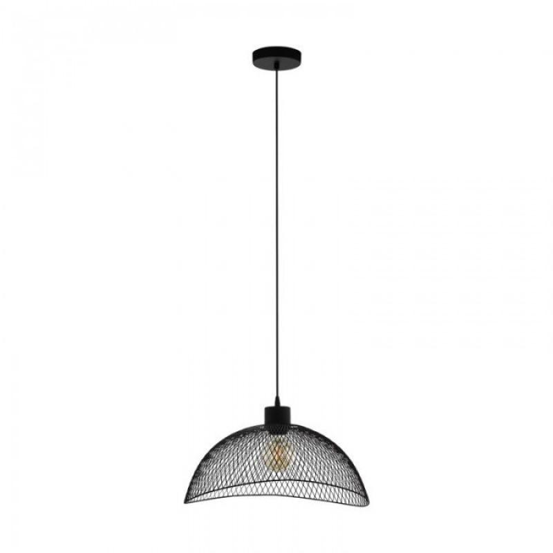 Eglo-43304 - Pompeya - Small Black Wire Cage Pendant