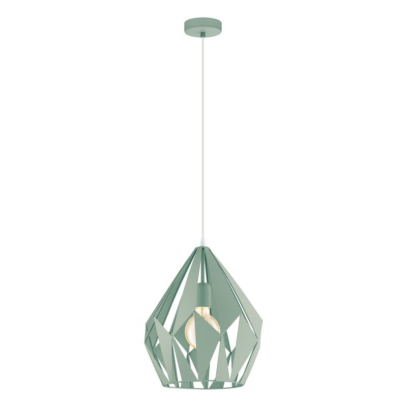 Eglo-49026 - Carlton-P - Vintage Pastel Green Single Medium Pendant