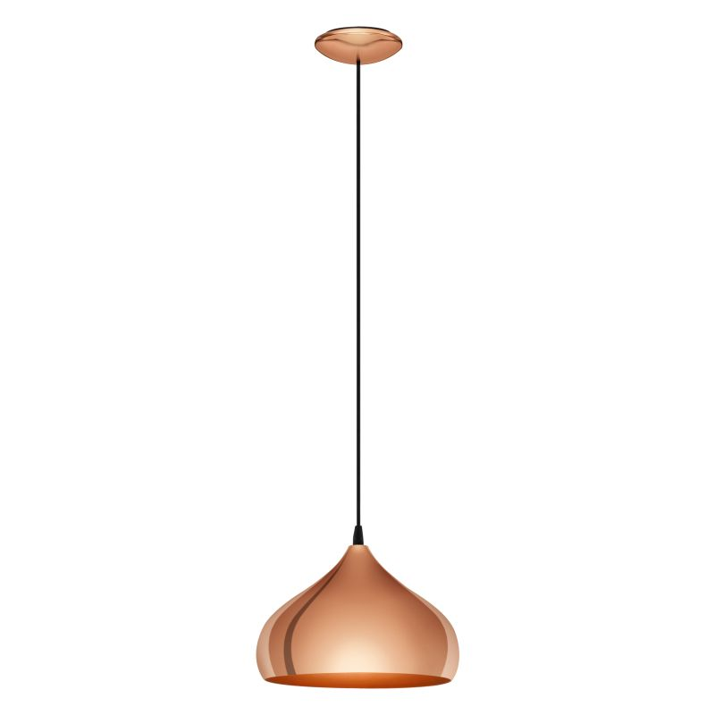 Eglo-49449 - Haton - Polished Copper Single Pendant