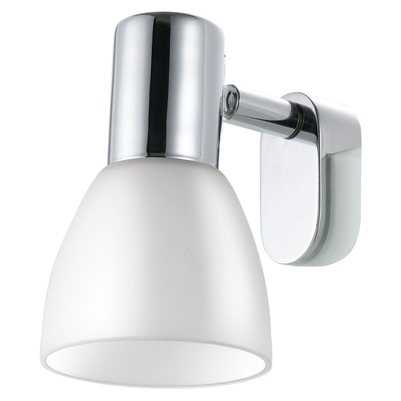 Eglo-85832 - Sticker - White Glass & Chrome Mirror Light