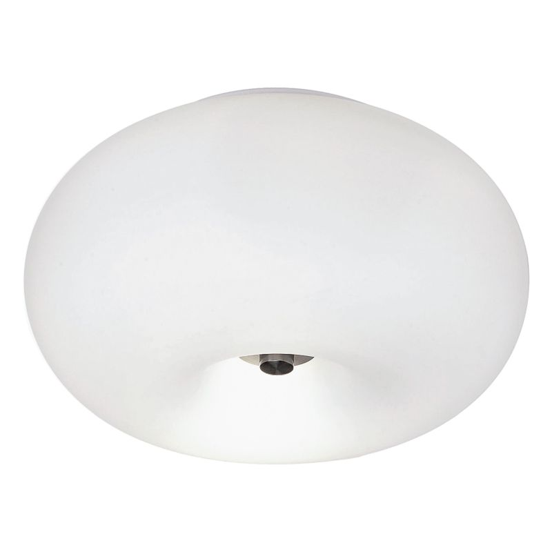 Eglo-86811 - Optica - Small White Opal Glass & Nickel Flush