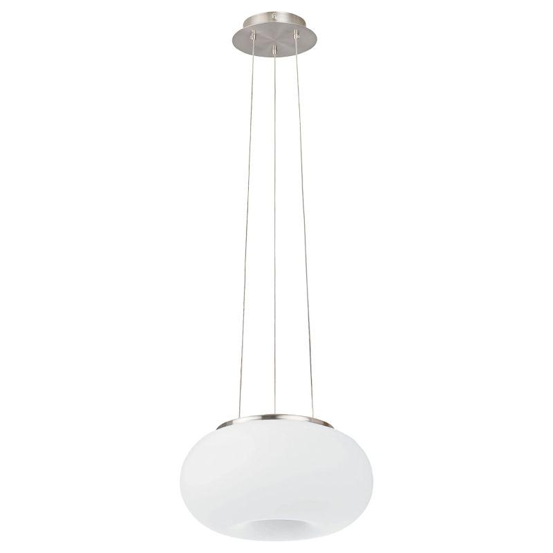 Eglo-86813 - Optica - Small White Opal Glass & Nickel Pendant
