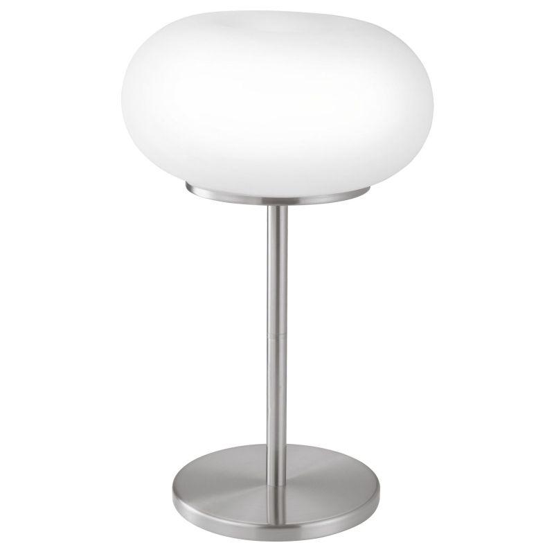 Eglo-86816 - Optica - White Opal Glass & Nickel Table Lamp