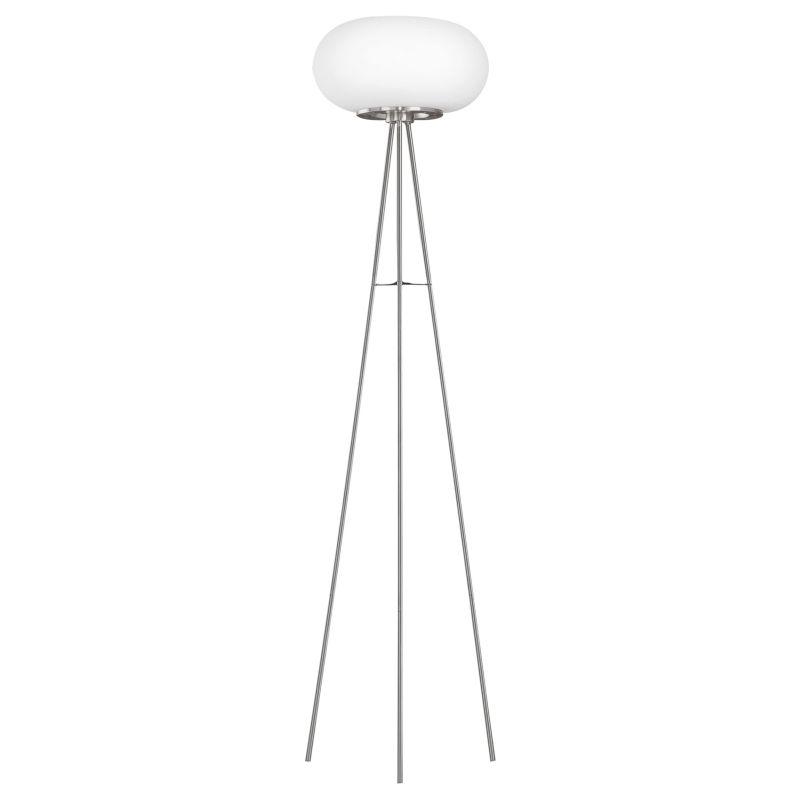 Eglo-86817 - Optica - White Opal Glass & Nickel Floor Lamp
