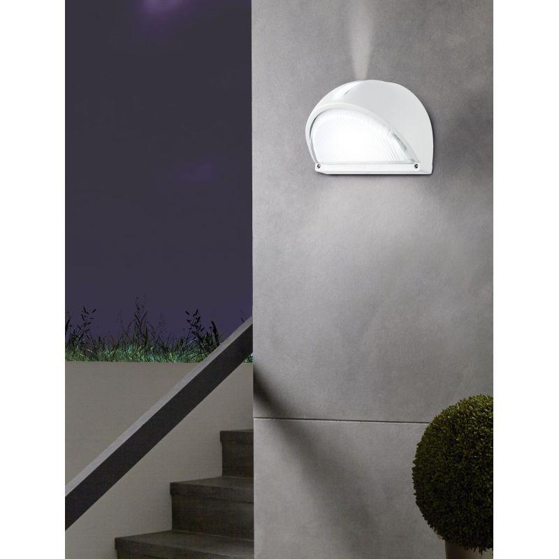 Eglo-89768 - Onja - Outdoor Clear Glass & White Bulkhead