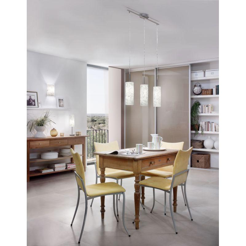 Eglo-90049 - Amadora - Decorative Glass & Nickel Wall Lamp