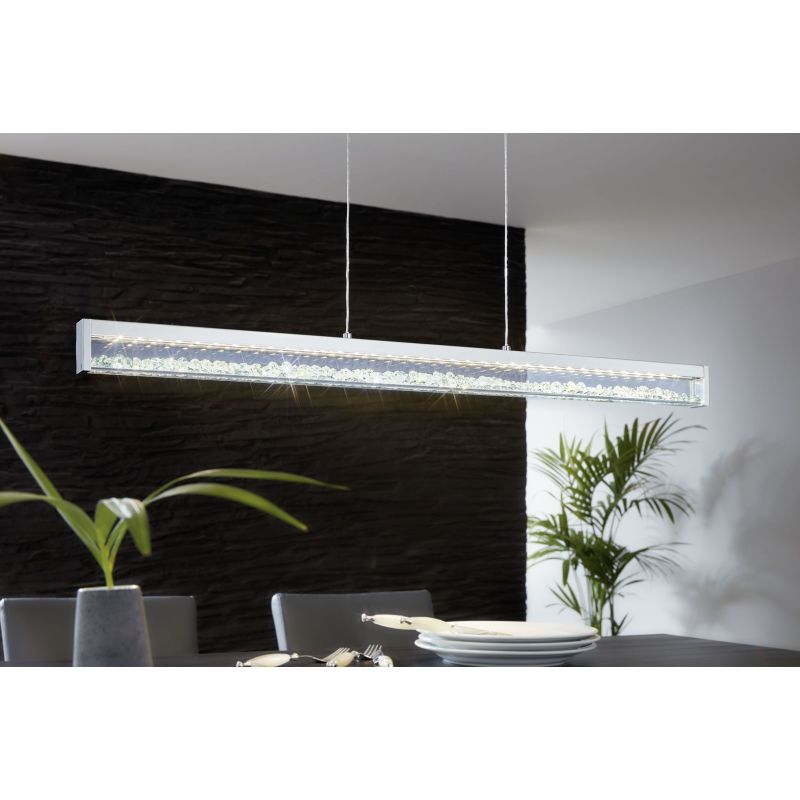 Eglo-93625 - Cardito 1 - LED Crystal & Clear Glass over Island Fitting