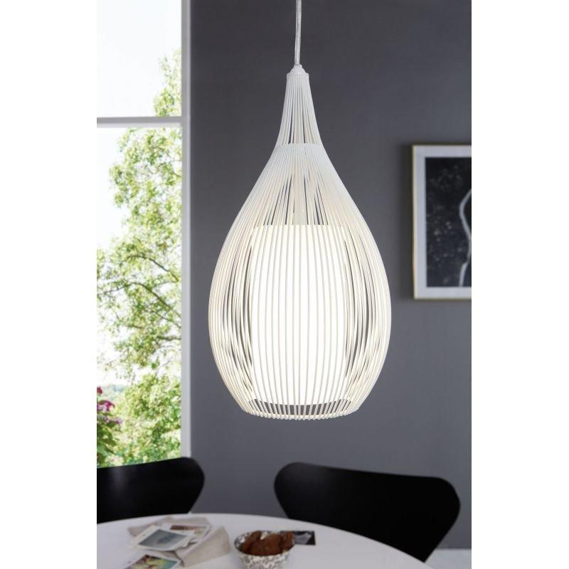 Eglo-94388 - Razoni - White Metal and Glass 3 Light over Island Fitting