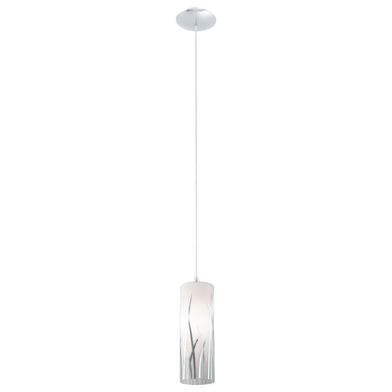 Eglo-92739 - Rivato - Decorative Glass & Chrome Single Pendant