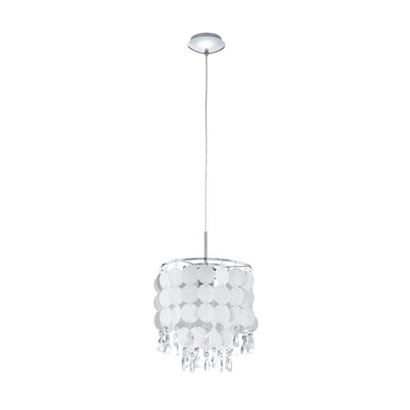 Eglo-93092 - Fedra 2 - Crystal & Pearl Small Pendant